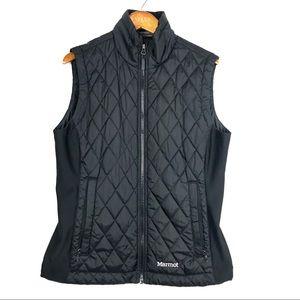 Marmot Black Quilted Puffer Vest Womens Medium